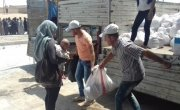 Food Basket distribution in  Syria. Photo: Concern Worldwide