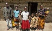 15 year old Liliana Mwenza wa llunga and her family in in her village, Mulombwa, DRC. Photo: Concern Worldwide.