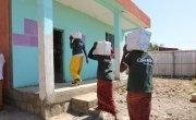 Concern staff members distribute Emergency Health and Nutritional Response. Somali Region, Ethiopia Photo: Jennifer Nolan/ Concern Worldwide