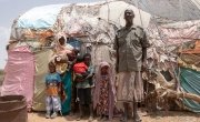 Safi Abdi Osan and her family at their home in Carracad. Photo: Eamon Timmins/Concern Worldwide
