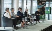 Panellists at Concern Worldwide's climate change and hunger event at City Hall, London.