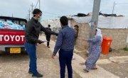 Distribution of Covid-19 prevention hygiene kits at Khankay IDPs camp Dohuk, Kurdistan Region, Iraq.