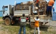 Concern providing support in getting face masks delivered to health centres, Liberia.