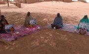 Covid-19 awareness and soap distribution in Rangat, Tahoua, Niger. Photo: Marie Rabo