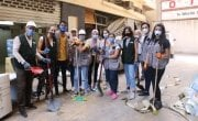 Members of Concern Lebanon volunteering with clean-up efforts in Beirut. Photo: Concern Worldwide.