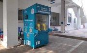 The coronavirus sample booth in Bangladesh.