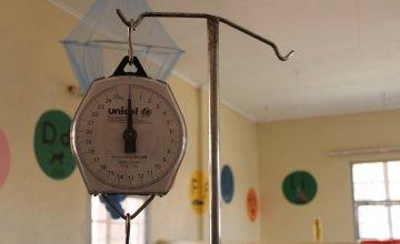 A Unicef scales at the health centre in Zulu, Mchinji district, Malawi. Photo: Aoife O'Grady/Concern Worldwide.