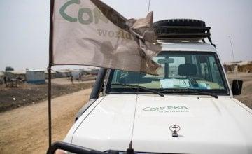 A Concern vehicle pictured in Bentiu, South Sudan.