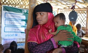 Baby Aklima is doing so much better now. Photo: Darren Vaughan / Concern Worldwide.