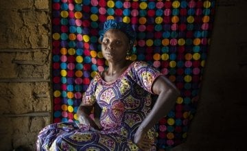 Mary Wrobone is member of a local Savings and Loan Association (CSLA) and Wrobone Mothers' Group. Photo: Nora Lorek