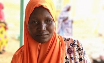 Chawda Zakariaou and her 8-month-old daughter Ousseina. Photo: Darren Vaughan/Concern Worldwide.