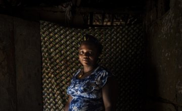 Muabon is Chairwoman of the Community Savings and Loan Association in Ceayeh Town. Photo: Nora Lorek