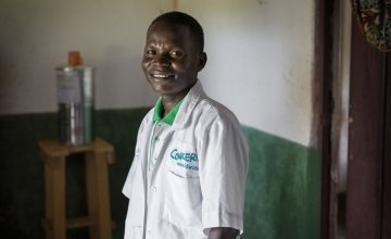 Rufin has been nutritional health officer at Gbadengue clinic since Concern started to support the facility. Photo: Chris de Bode/Panos for Concern
