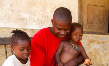 Gibrilla Turay from Petifu Mandugu, Kunike Chiefdom, Sierra Leone. Photo: Concern Worldwide