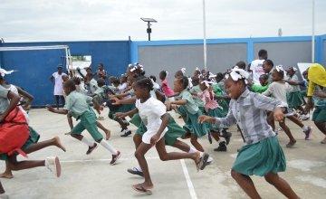 Game on child protection using the 'Playdagogy' method, Belekou, Haiti. June 2019. Photo: Katia Antoine / Concern Worldwide.