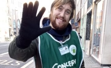 Eric, one of Concern's Street Fundraisers based in London.