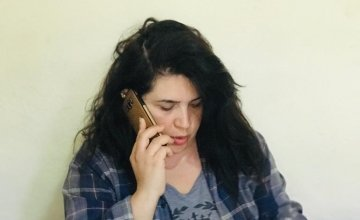 Siba Bizri, Concern's Case Management Officer in Lebanon, answers calls to the hotline for gender-based violence. Photo: Concern Worldwide.