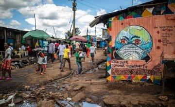 General View of the centre of Kibera slum area in Nairobi, Kenya Photo: Ed Ram
