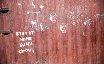 Street art in Kenya spreading awareness of the coronavirus pandemic