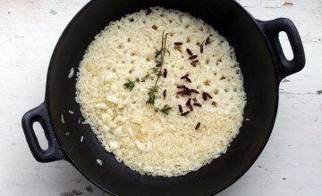 Pot of white rice