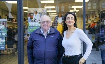 Antrim Road shop volunteers Rodney Maxwell and Rose Skillen. Photo: Darren Vaughan