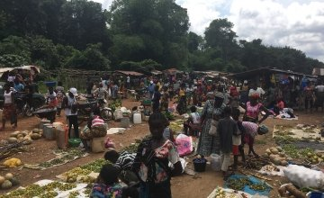 Market in Bokay Town, Grand Bassa, Liberia, 2019. Photo: Catherine Shepperdley.