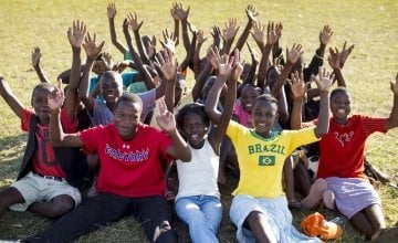 Teenagers taking part in a Concern Skillz programme in Malawi.