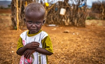Erupe is malnourished as a result of drought in Kenya.
