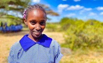 13-year-old Hawo in Kalacha Nomadic Girls School, Kenya. Photo: Jennifer Nolan