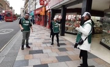 Street fundraisers in London