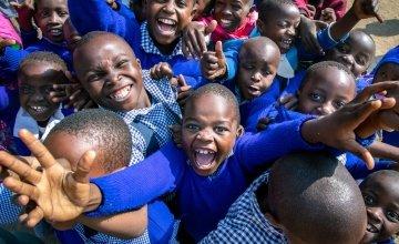 Children from the Gatoto Community School in Kenya. Photo: Gavin Douglas