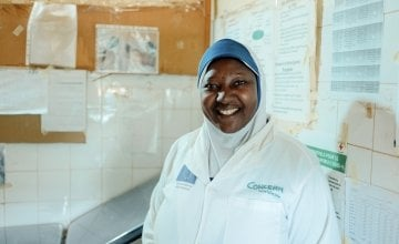 Moussa, the Chief Nursing Officer of the CSI (Integrated Health Centre of Koufantawa). Ollivier Girard/Concern Worldwide