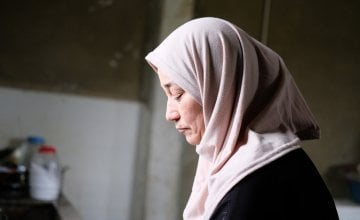 50-year-old Maha was a primary school teacher in Syria before she fled to Lebanon in 2014. She is attending a 12-week women's group organised by Concern to discuss their shared experiences. Photo: Darren Vaughan
