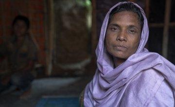 40-year-old widow Tayma* in Cox's Bazar refugee camp, Bangladesh. Photo: Abir Abdullah