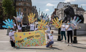 Crack the Crises campaigners 'hand-in' the #WaveOfHope