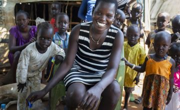 Idil* lives with her three children in a POC in Juba, South Sudan. Photo: Abbie Trayler-Smith