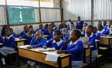 Children in Gatoto Community School in Mukuru, Nairobi