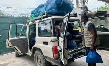 Concern team prepare to leave for Les Cayes, where there will assess the supports needed following the earthquake. Haiti Photo: Makayla Palazzo