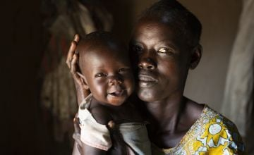 A mother and baby in South Sudan