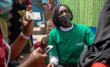 Concern Worldwide worker in Ann Titiha in Korogocho informal settlement. Photo: Ed Ram / Concern Worldwide