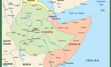 Horn of Africa map. Credit: World Atlas