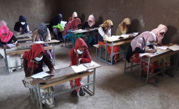 IFAL programme, adolescent girls attending literacy class at Adey Learning Centre, Dessie Zuria Woreda, South Wollo Zone, Amhara Region. Photo: Zelalem Mulugeta/Concern Worldwide