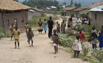 """The village of Gafumba, Rwanda, where Concern is implementing the 'Graduation programme' which is helping participants """"graduate"""" out of poverty. Photo: Cheney Orr / Concern Worldwide."""