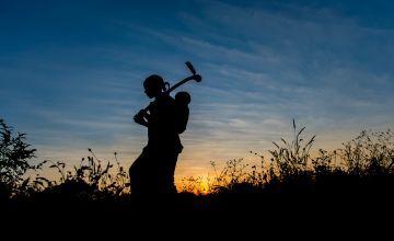 Mary Banda in her field in May 2014. Photo: Gareth Bentley / Concern Worldwide.