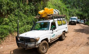 One of Concern Worldwide's vehicles used to implement our programmes, DRC.