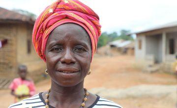 Yadema Koroma lives in Makelfa village in Tonkolili. Photographer: Jennifer Nolan