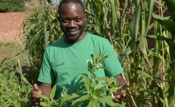 Fabien Makongo – Concern's Programme Manager for Food Security and Livelihoods in Bossembele, Central African Republic. Photo: Chris de Bode/Panos Pictures for Concern Worldwide