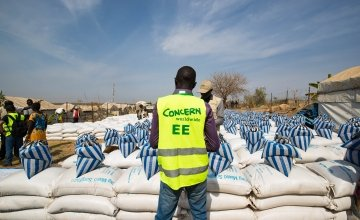 A monthly food distribution in Juba PoC organised by Concern. Photo: Steve De Neef / Concern Worldwide.
