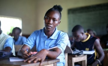 As part of a Concern-supported programme to help families rebuild their livelihoods after Ebola, Kadiatu Conteh (22) was enrolled on a four month vocational training course in electrical installation at the Sierra Leone Opportunity Industrialisation Centr
