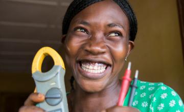 Kadiatu Conteh (22) is an Ebola survivor from Magburaka, Tonkolili, Sierra Leone. Sept 2016. Photo: Kieran McConville, Concern Worldwide